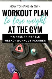Design Your Own Workout Plan How To Make Your Own Workout Plan Printable Gym Workout