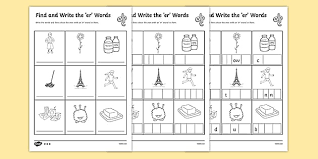 # not suitable for all phones. Er Words Sounds Differentiated Worksheets Phonics 3