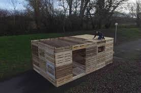 Pallets What If You Could Build A Shelter From Pallets In One Day