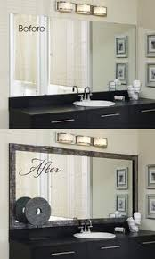 bathroom mirror frame tile.  Tile Go From Bland To Grand In Minutes With The Addition Of A MirrorMate Mirror  Frame That Large Plate Glass Mirror The Pretaped Presses Right Onto  And Bathroom Mirror Frame Tile