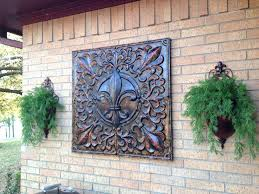 outdoor wall hangings metal metal wall art outside house pleasing the beautiful outdoor wall art garden