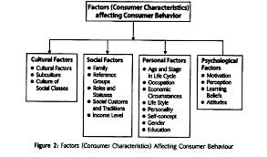 Consumer Behavior Chart Factors Affecting Consumer Behaviour With Diagram