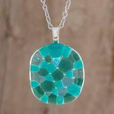 handmade glass pendant necklace in