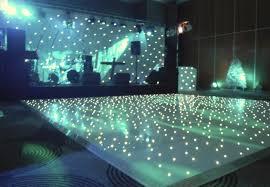 white starlit l d dance floor hire