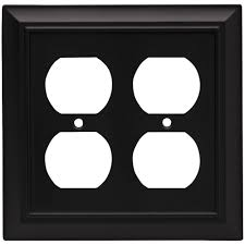decorative electrical outlet covers. Wonderful Covers Liberty Architectural Decorative Double Duplex Outlet Cover Flat Black For Electrical Covers T