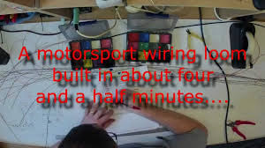 time lapse build of motorsport wiring loom hd time lapse build of motorsport wiring loom hd