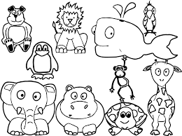 Farm Animals Coloring Pages Printable Free Animal Drawings Download