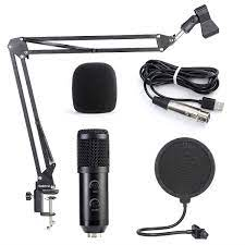 Koolertron Kondensator-Mikrofon Bundle, BM-900 Mic Set mit verstellbarem Mic  Suspension Scissor Arm, Shock Mount und Double-Layer Pop Filter für Studio  Recording & Broadcasting: Amazon.de: Musikinstrumente