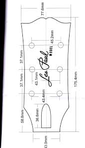 Gibson Headstock Dimensions Images In 2019 Gibson Guitars