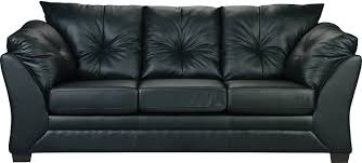 Sofa Max En Similicuir Noir Faux Leather Sofa Throughout Brick Sofas (#10  of 12