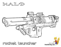 24 Halo 3 Weapon Rocket Launcher At Coloring Pages Book For Kids