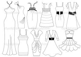 Fashion Dress For Girls Coloring Sheets And Pages Download