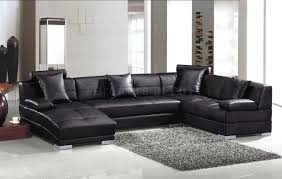 sofa black leather sectional couches for sale couch with power