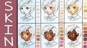 Copic Skin Colour Combinations