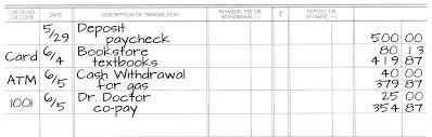 Credit Card Transaction Log Template Checkbook Register Payment