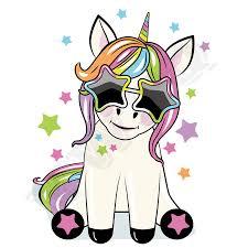 Nažehlovací Barevný Obrázek Unicorn Jednorožec S Brýlemi