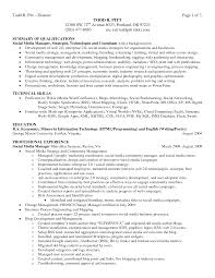 Resume Career Summary Example Examples Of Resumes