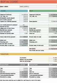 car leases calculator car buy vs lease calculator office templates