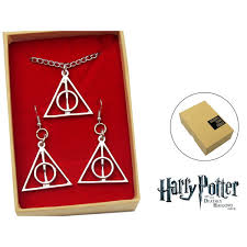 harry potter pendant and earrings ly hallows set