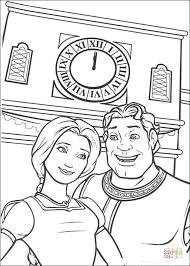 Small Picture Fiona and Shrek human coloring page Free Printable Coloring Pages
