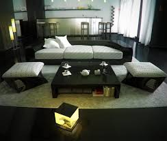 Oriental Living Room Furniture Chinese Living Room Decor Sectional Sofa Wooden Flooring Japanese