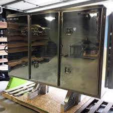 Cab Rack 3 Door Vault With 2 Chain Racks And 2 Shelves, All Aluminum ...