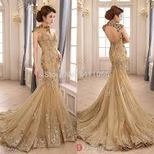 gold wedding dresses handese fermanda