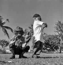 Florida Memory • Herman Smith and Wayne Reese at bat - Miami, Florida