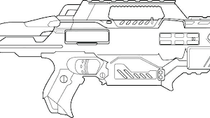 Nerf Coloring Pages Coloring Pages Water Gun Coloring Page Nerf Logo