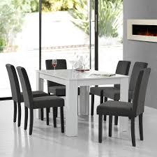 Encasa Esstisch Weiß Mit 6 Stühlen Grau Textil 140x90 Tisch Stühle