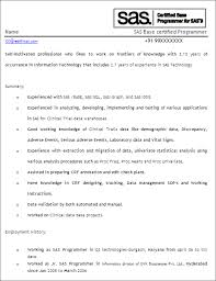 sas resume sample sas programmer developer free resume template