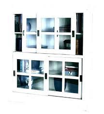 barn door bookcase sliding glass doors bookcases with
