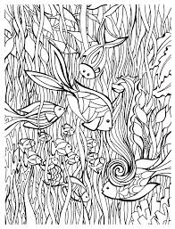 Small Picture Animals Coloring pages for adults fish details