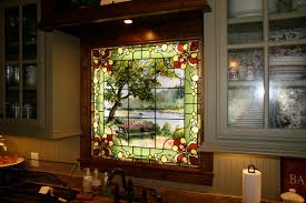 Nice Stained Glass Window For A Kitchen Traditional Kitchen Pictures