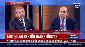 Boğaziçi Üniversitesi Rektörü Prof. Melih Bulu Habertürk'te