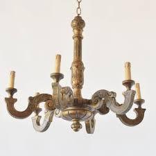 italian painted wood chandelier the big chandelier