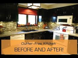 clean and clutter free kitchen before and after