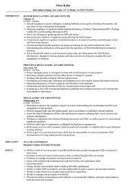 Regulatory Affairs Officer Resume Samples Velvet Jobs