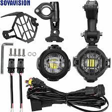 1 Set <b>Universal Motorcycle LED</b> Auxiliary Fog <b>Light</b> Assemblie ...
