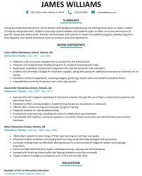 Elementary Teacher Resume Template Word Free Experienced Stock