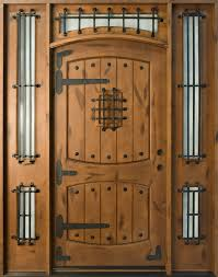 custom front doorsFront Door Custom  Single with 2 Sidelites  Solid Wood with Dark