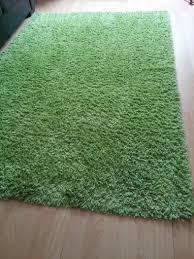 green rug high pile ikea hampen