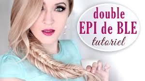Tresse Pi De Bl Empil E Double Tuto Coiffure Cheveux Longs