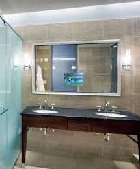 Hotel Bathroom Lighted Mirror New Tv In Bathroom Mirror Price Screen Lighted Diy Frame