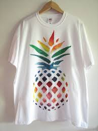 How To Design A Shirt With Paint Hand Painted T Shirt With Rainbow Pineapple Design Available Sizes