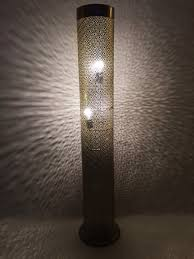 fabulous moroccan floor lamp at amalia xl silver colored 135cm oriental