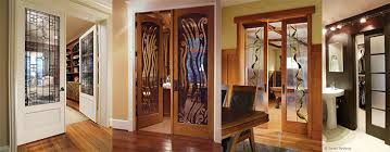 add style to your interior space with decorative glass doors