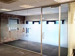 office dividers glass. Mosaic Print Management (York): Acoustic Glass Office Partition Dividers