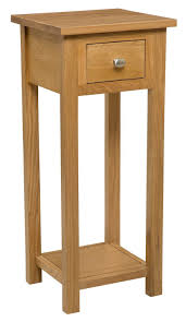 phone table. new solid oak compact tall slim small telephone / phone console lamp hall way plant bedside table: amazon.co.uk: kitchen \u0026 home table amazon uk