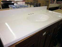 x single bowl standard white cultured marble bathroom vanity sink tops cutting